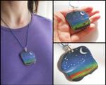 Starry sky pendant