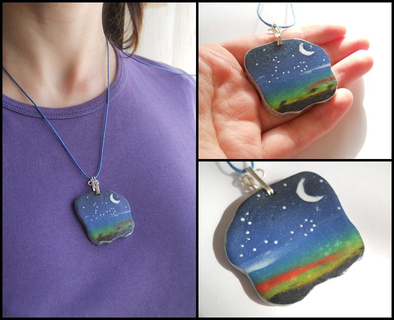 Starry sky pendant by GemDeDude