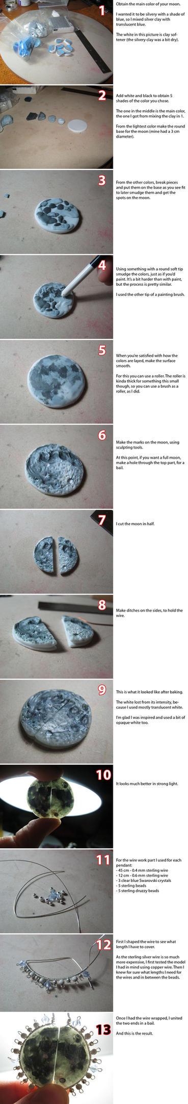 Moon Pendants Process by ALINAFMdotRO