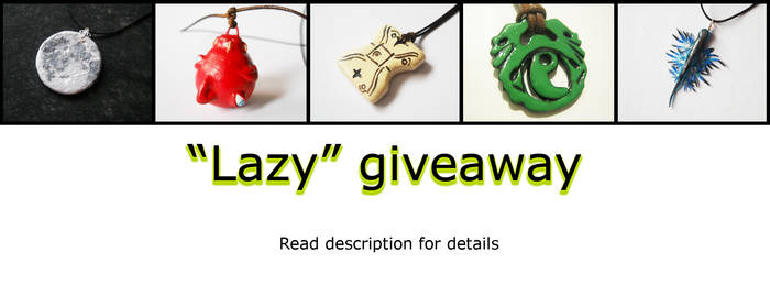 Giveaway time! - CLOSED
