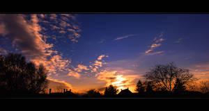 Winter Sunset Kecel by NorbertKocsis
