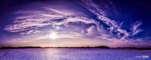 Snowy field by NorbertKocsis