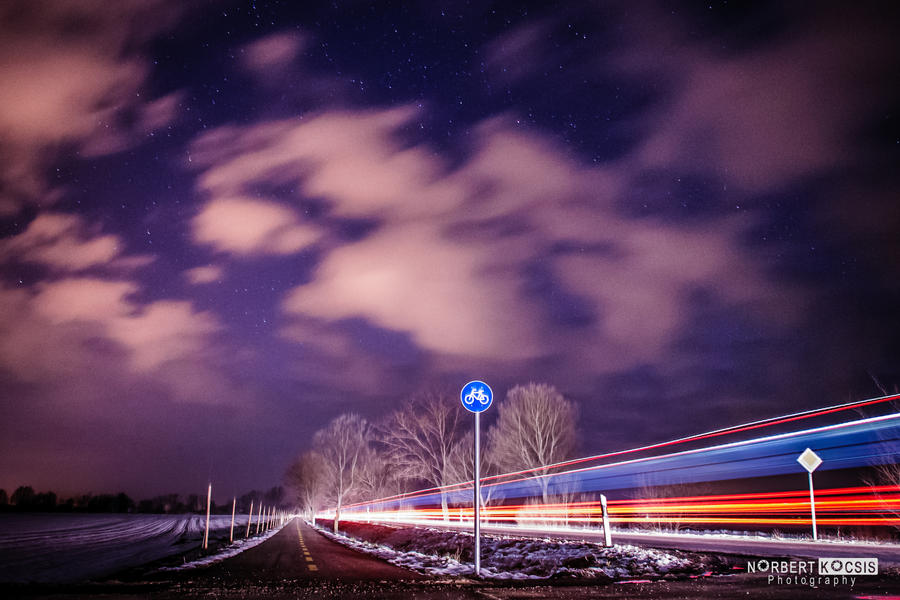 Night traffic by NorbertKocsis