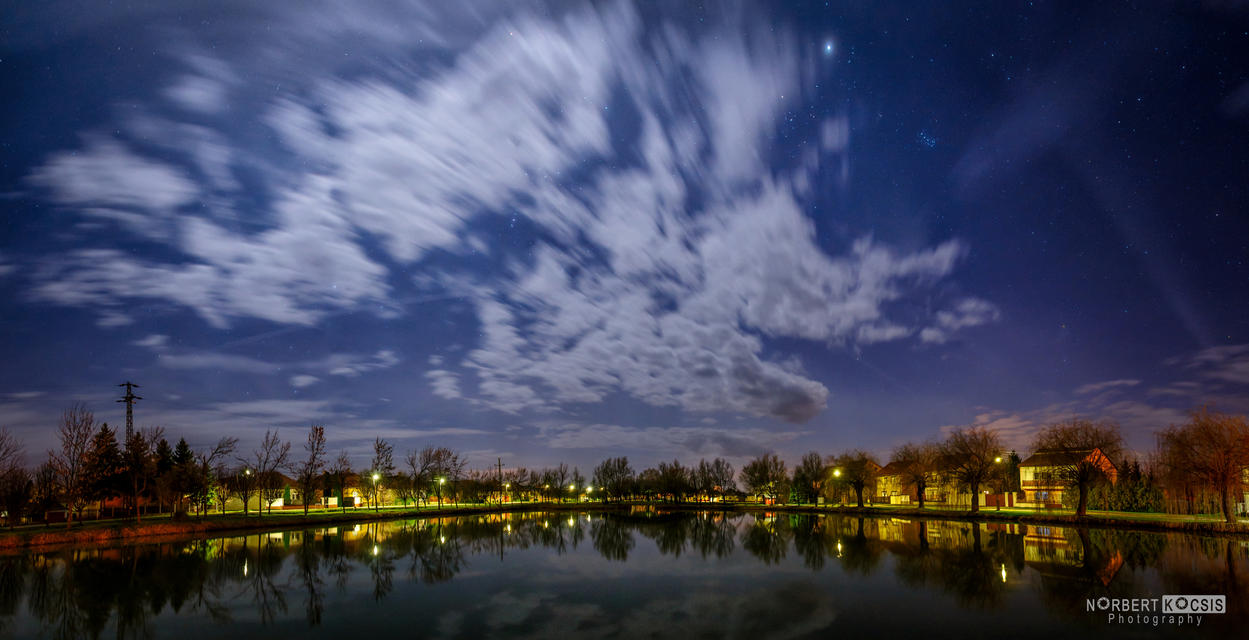 A night at the Kenderfold lake by NorbertKocsis