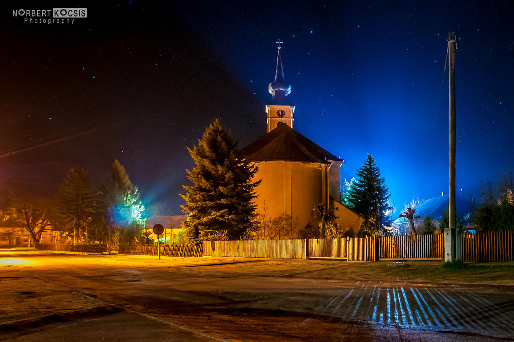 Church lights by NorbertKocsis
