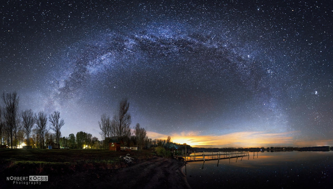 Milky Way at Vadkert lake by NorbertKocsis