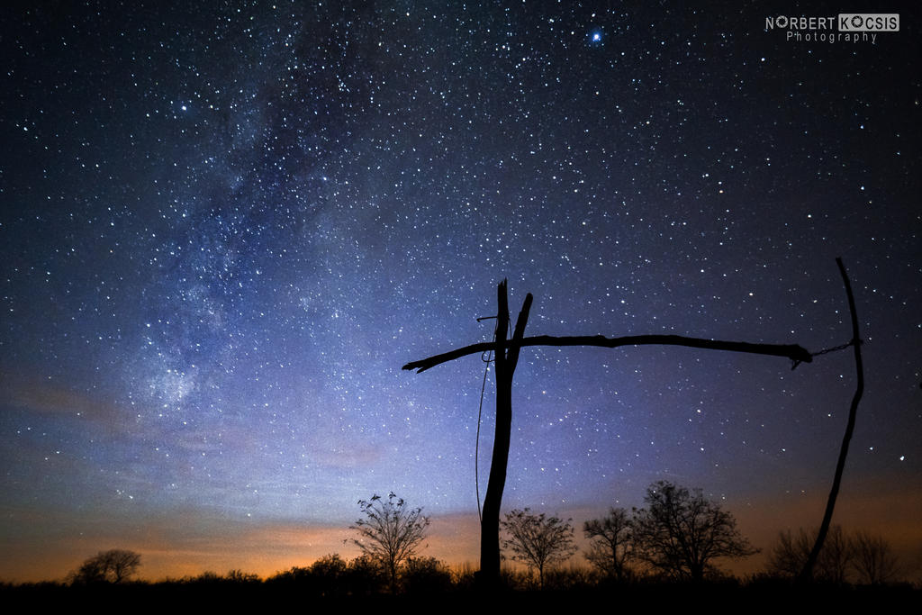 Milky way and the shadoof by NorbertKocsis