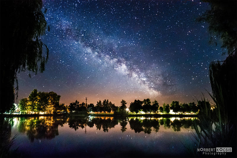 Kenderfoldi lake and the Milky Way by NorbertKocsis