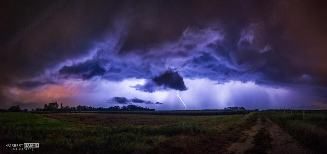 Summer evening storm by NorbertKocsis