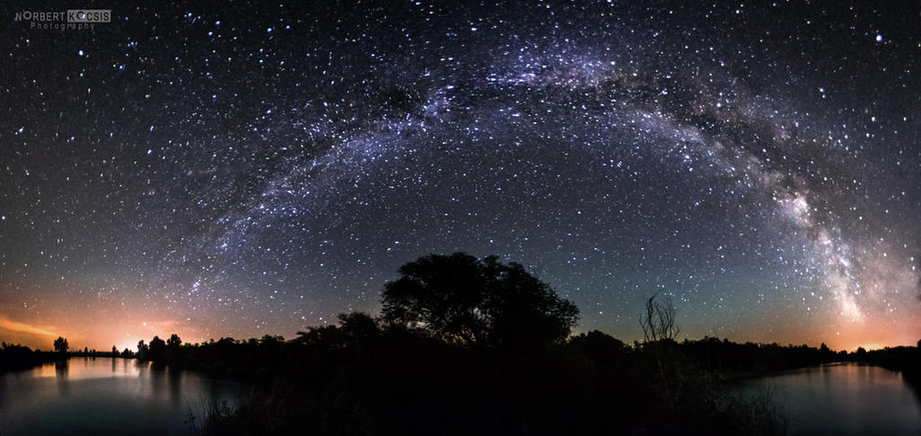 The milky way from lake to lake by NorbertKocsis