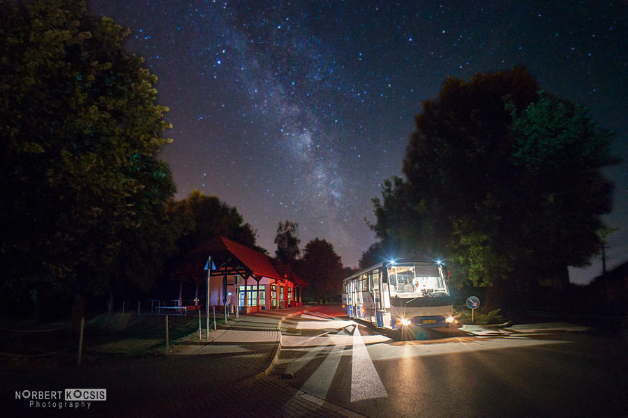 The bus stop by NorbertKocsis