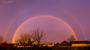 Double Rainbow Sunset by NorbertKocsis