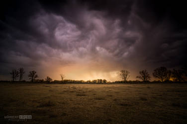 Woman's day rain and sunset by NorbertKocsis