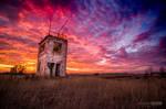 Old shooting range sunset