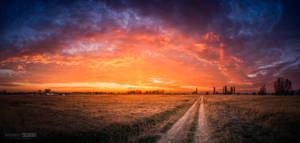 Sunset panorama view
