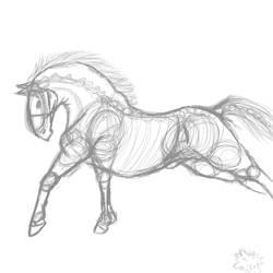 Horse Sketch by IntergalacticNebula