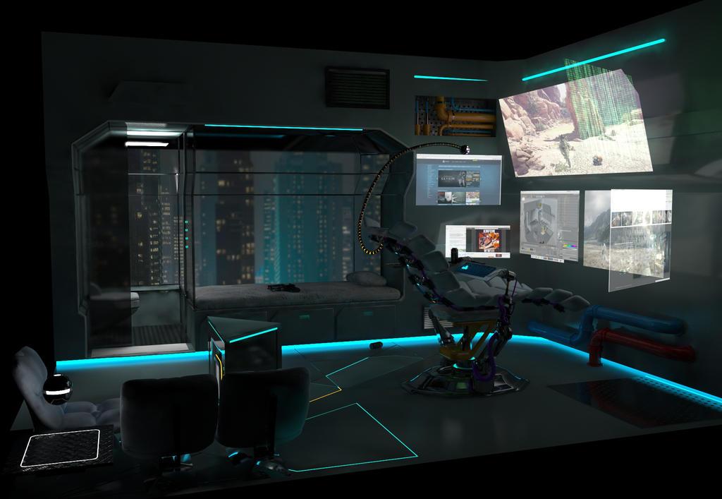 Cyberpunk Room6 by MauKnox on DeviantArt