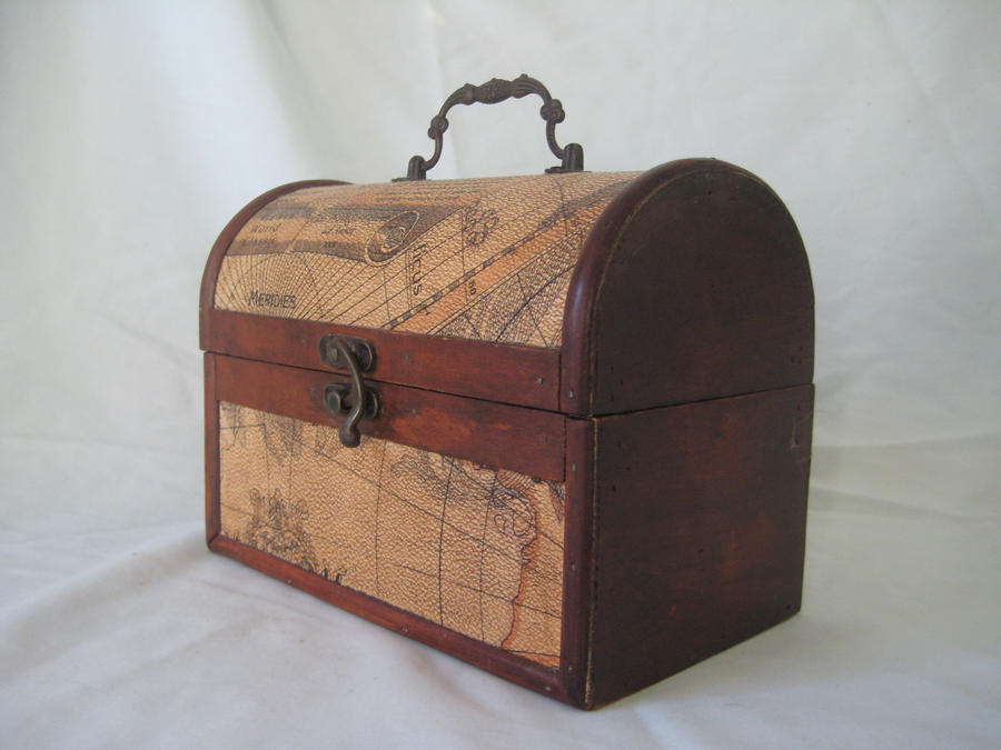 vintage wooden chest 1 by Stock-Tenchigirl15