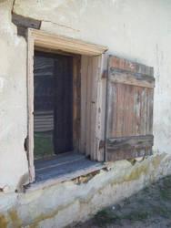 wood window in Batsto Village 1