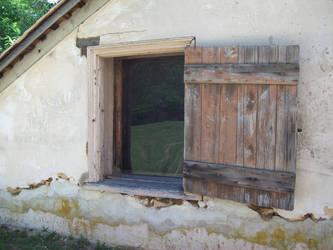 wood window in Batsto Village 2