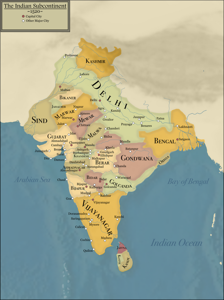 Indian subcontinent in 1520 by homemademaps on deviantart indian subcontinent in 1520 by homemademaps gumiabroncs Gallery
