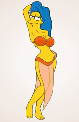 Marge Simpson as Manjula by paulibus2001