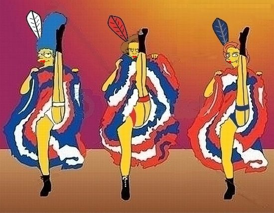 Marge Simpson and Friends Dancing the Can Can by paulibus2001 on