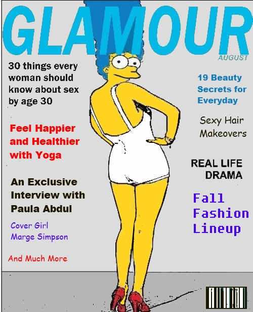 Glam Marge Simpson