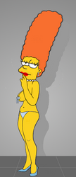 Marge Simpson as Tempest Storm by paulibus2001