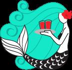 Mermaid Cafe Logo Mark by chibi-cheeks