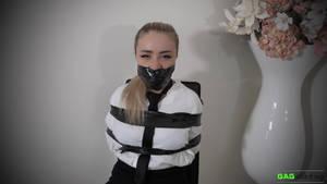 Aubrey - Officegirl Tape Bondage( GagAttack.org )