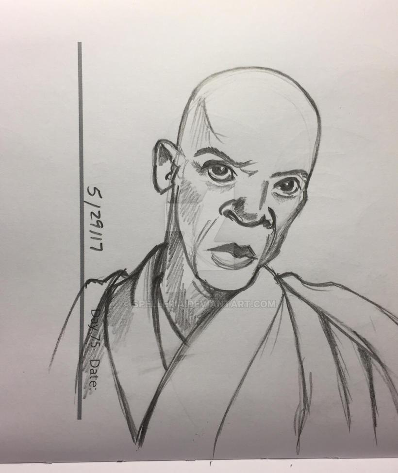 Mace Windu Sketch by spelleria