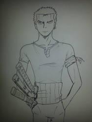 Roronoa Zoro, One Piece by TimeBombTom