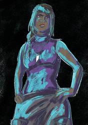 Color sketch - Aya by Damatris