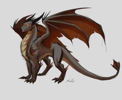 DD: Western Dragon Species: Seraphinus by PurpleTigress