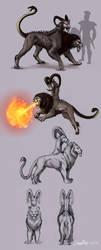 Chimera Enemy Design by PurpleTigress