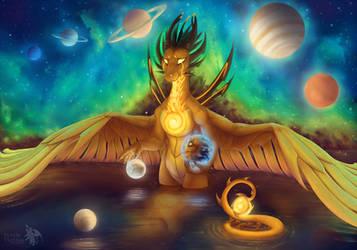 Sol, Earth and Luna by PurpleTigress