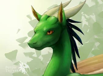 Dragon Bust Speedpaint by PurpleTigress