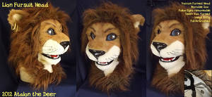 Lion Fursuit Head (Semi Real) by AtalontheDeer