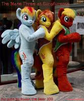 Mane Three MLP Ponies at Eurofurence by AtalontheDeer