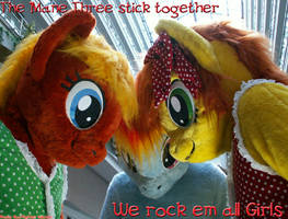 MLP Girls Rock em all - the Mane 3 Ponies by AtalontheDeer