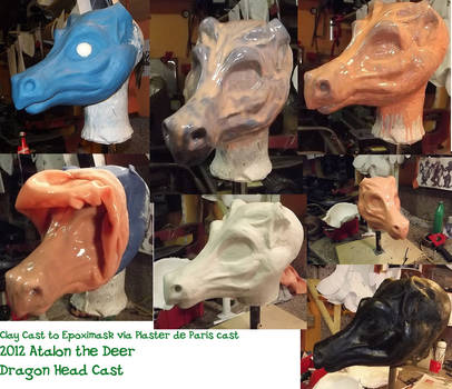 Dragon Mask Clay to Gypsum and Epoxi way by AtalontheDeer