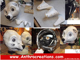 New Skunk and Badger  Headbase  - with jawset by AtalontheDeer
