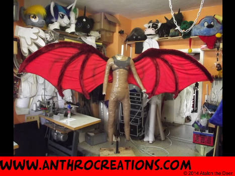 WingsDragnaros2Dragon wing foldable - 3m span by AtalontheDeer