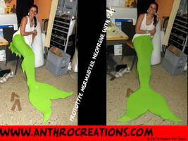 Mermaid Tail Neoprene Prototype for Airbrush