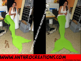 Mermaid Tail Neoprene Prototype for Airbrush