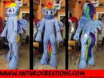 Rainbow Pony Finished Fursuit