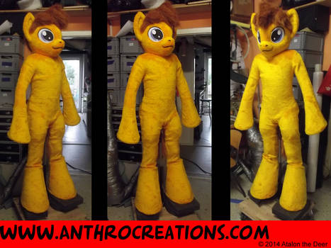 MLP Horse OC Char Fursuit Fin Yellow/Gold
