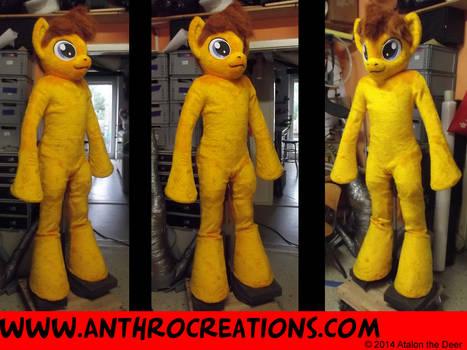 MLP Horse OC Char Fursuit Fin Yellow/Gold