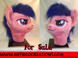 Fire Fly MLP Horse Fursuit Head by AtalontheDeer